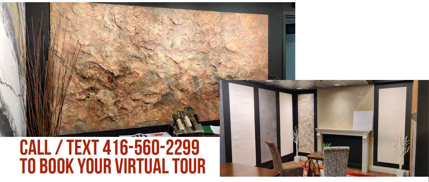 Interested to take a closer look at our architectural finishes? Then come and take a look in person at our Showroom. Feel free to contact us to make an appointment. Call / Text 416-560-2299 To Book your Virtual Tour
